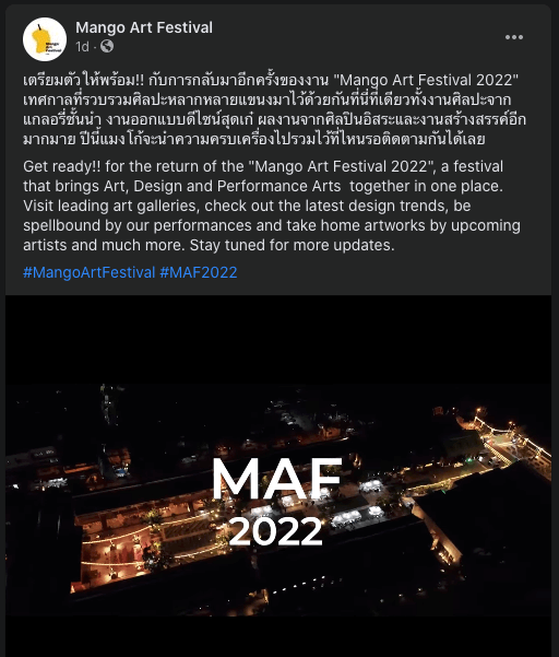 2nd manag art festival 2022 fine art galleries emerging artist Bangkok Thailand